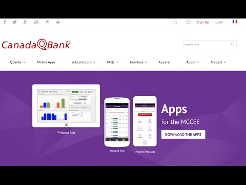 CanadaQBank.com Demo Video | QBanks for MCCEE, MCCQE, USMLE, AMC CAT, PLAB, SMLE.