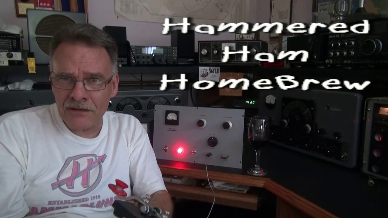 Homebrew Hammered Ham 6DQ6 Tube CW Transmitter Demo D-lab
