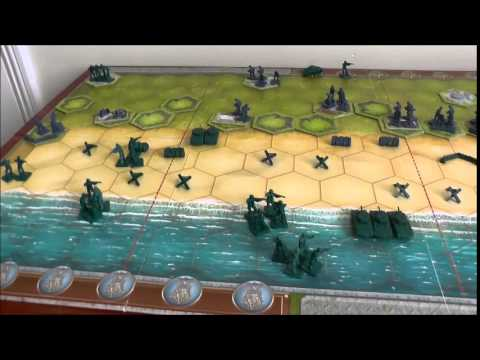 Memoir '44 solitaire play of Omaha beach