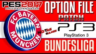 PES 2017 - PATCH BUNDESLIGA PS3 (OPTION FILE) - Tutorial e Download!
