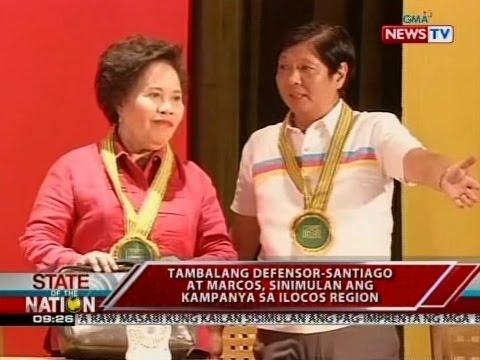 SONA: Tambalang Defensor-Santiago-Marcos, sinimulan ang kampanya sa Ilocos region