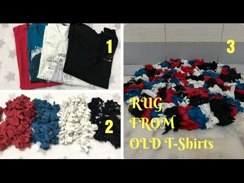 How To Make A Rag Rug Using Old T Shirts Recycle Reuse Your Clothes By Live Creative