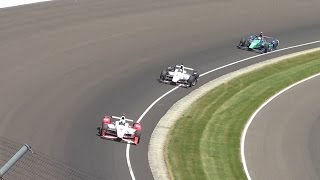 2015 Indianapolis 500 Finish From the Stands: Montoya vs Power (PURE HD SOUND!)