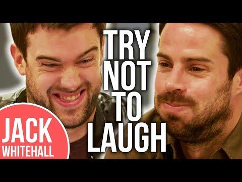 Jamie Redknapp Is NOT A Fan Of Jack Whitehall's Own Joke!!   No Laugh Challenge