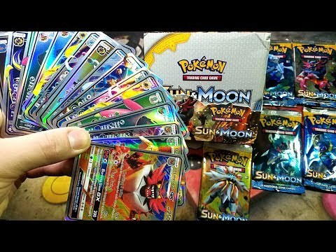 18 GX ULTRA RARE PULLS IN 18 PACKS! OPENING A FAKE POKEMON SUN & MOON BOOSTER BOX - PART 1