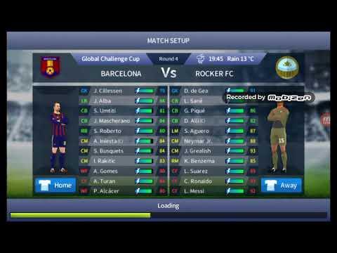 Dream League Soccer Rocker fc vs Barcelona 7-0 DLS17