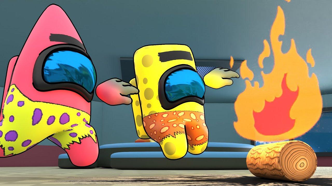 Spongegar and Patar | Among Us Animation