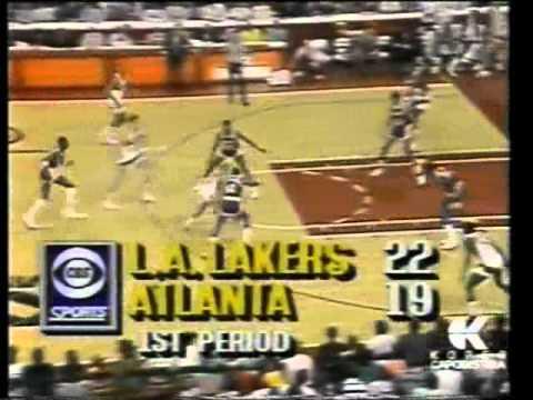 Los Angeles Lakers vs Atlanta Hawks (NBA 1989-90 reg. season)
