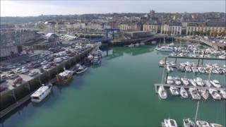 Vidéo aérienne du Port de Dieppe par drone