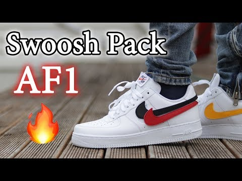 Nike Air Force 1 'Swoosh Pack' Close Up + On-Feet w/ Different Pants