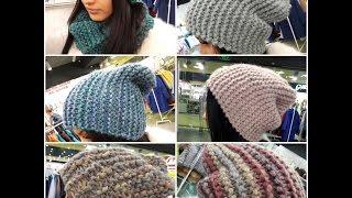 Супер - шапка бини спицами