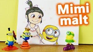 Minions malen lernen   Mimi mal   Agnes & Bob   Niedliches Minions Bild   DIY Inspiration Kids Club