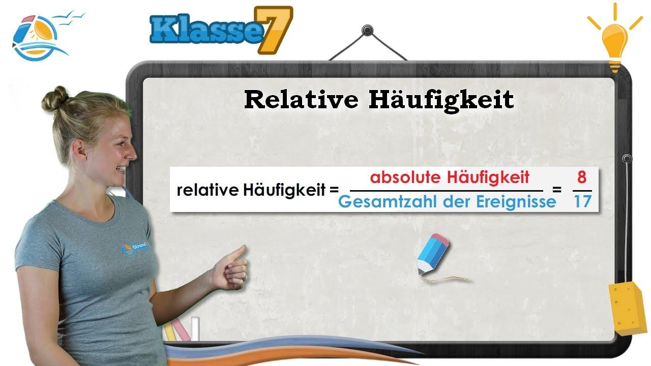 relative h ufigkeit wahrscheinlichkeit klasse 7 wissen youtube. Black Bedroom Furniture Sets. Home Design Ideas