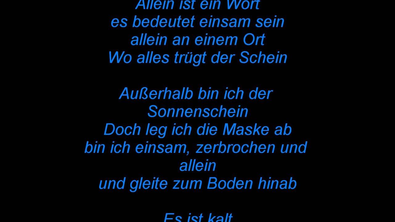 Gedicht - allein / einsam♥ - YouTube
