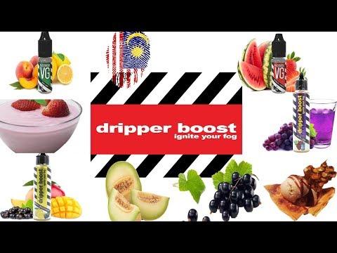 مراجعة وتقييم 7 نكهات ماليزية من شركة dripper boost