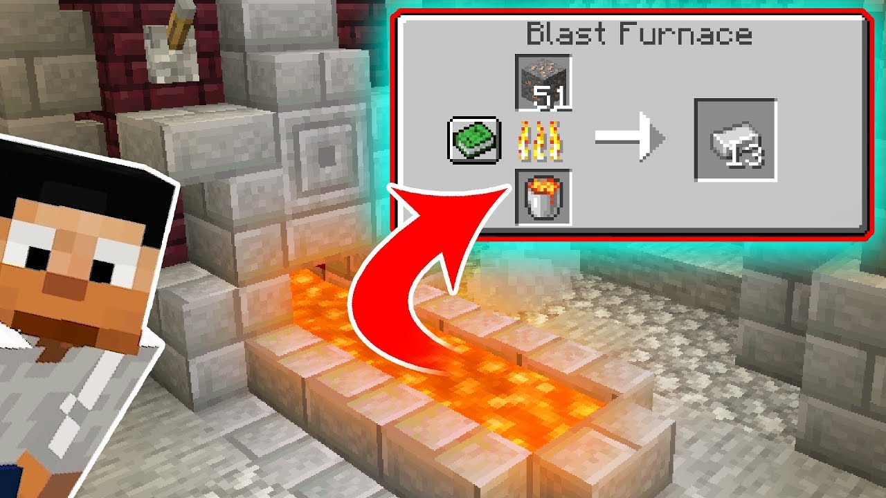I Made a Working LAVA FURNACE in Vanilla Minecraft!