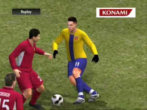 Pro Evolution Soccer 2008 PC Gameplay (1st Half)