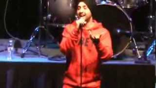 Punjabi singer Diljit says  Sorry  for singing  Lak 28 Kudi Da    Live performance in San Jose 2013
