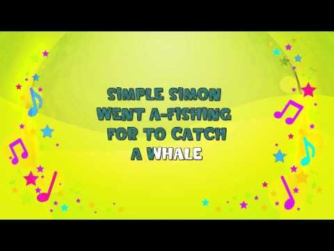 Simple Simon | Karaoke | Nursery Rhyme | KiddieOK