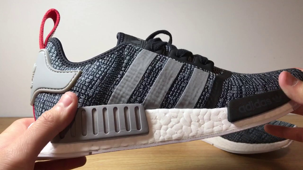 Cheap adidas NMD R1 Glitch Solid Gray White For Sale