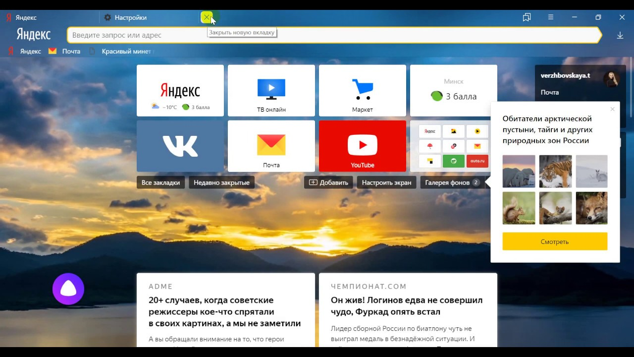 Как отключить информеры, уведомления в браузере Яндекса.