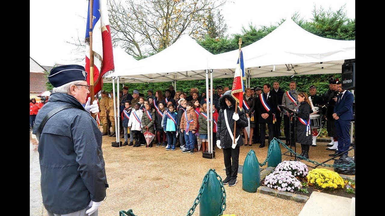 Cérémonie de commémoration du Centenaire de l'Armistice du 11 novembre 1918 à Serris