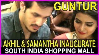 South India Shopping Mall Guntur Opening Ceremony - Akhil & Samantha