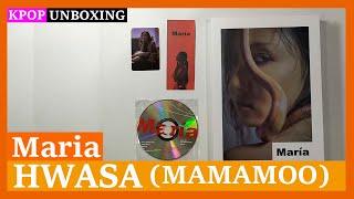 Unboxing Hwasa [Maria] 화사 (A ver) 1st mini album Kpop Unboxing 케이팝 언박싱 MAMAMOO 마마무