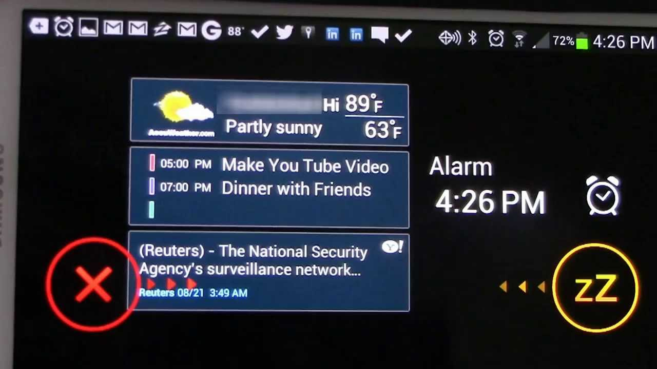 Samsung Android Alarm Clock Feature Briefing
