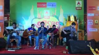 Manush Chena Daay by Moheener Ghoraguli | Goshai Gang | Live at ABP Amantran
