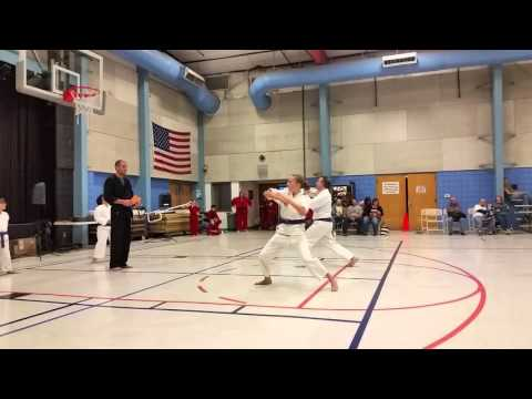 Blue Belt Test, some adult techniques in Kempo Karate