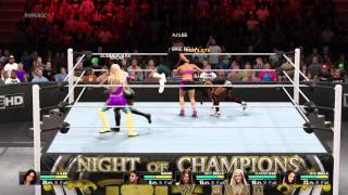 WWE 2K15 diva attire match