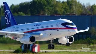 Сухой Суперджет 100 с винглетами Саблелёт МАКС-2019