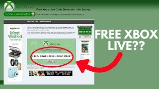 Redeeming FREE XBOX LIVE CODES ONLINE... Does It Actually Work??