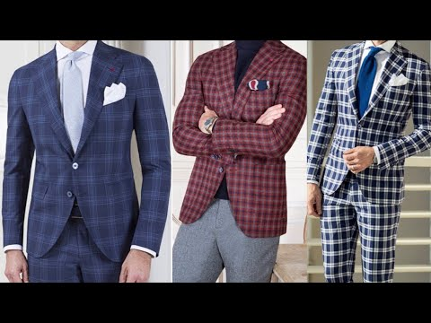 Best Stylish Check Suits Design For Men S 2020 Youtube
