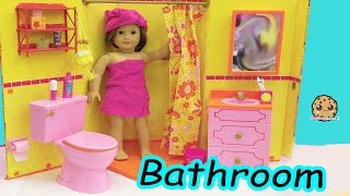 Baixar American Girl Doll Room - Shower,  Brush Teeth, Surprise Blind Bags Toy Video