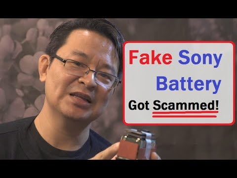 Fake Sony Lithium Battery from China - Got Scammed again