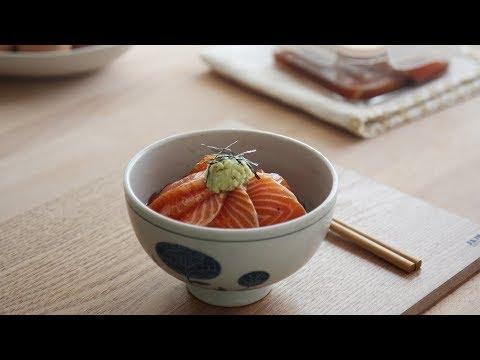 요즘 SNS에서 핫한 연어장 만들어 봄 : Marinated Salmon Rice Bowl | Honeykki 꿀키
