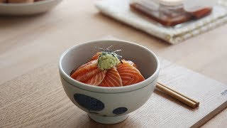 figcaption 요즘 SNS에서 핫한 연어장 만들어 봄 : Marinated Salmon Rice Bowl | Honeykki 꿀키
