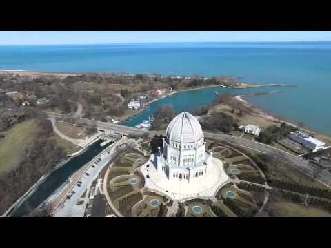 Wilmette Illinois, Baha'i House of Worship and Lake Michigan