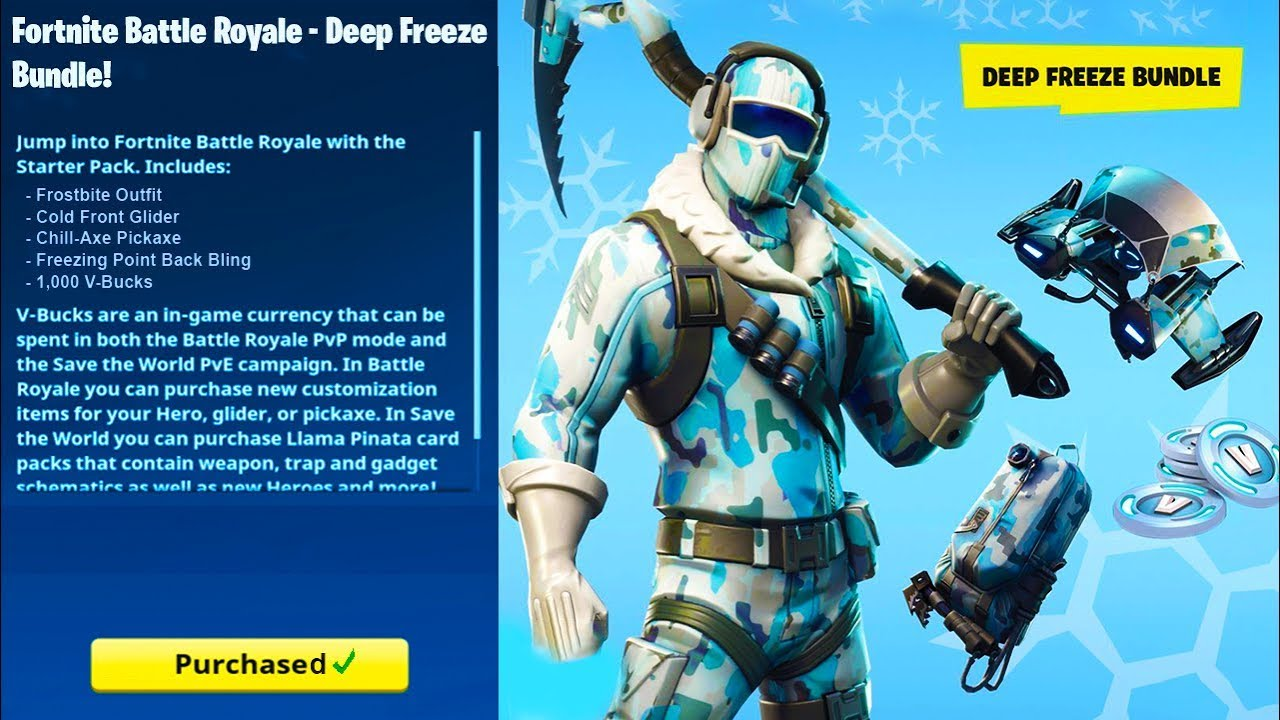 New Deep Freeze Bundle Pack In Fortnite How To Get The Deep
