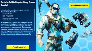 New DEEP FREEZE Bundle Pack in Fortnite! - How to Get The Deep Freeze Bundle Pack