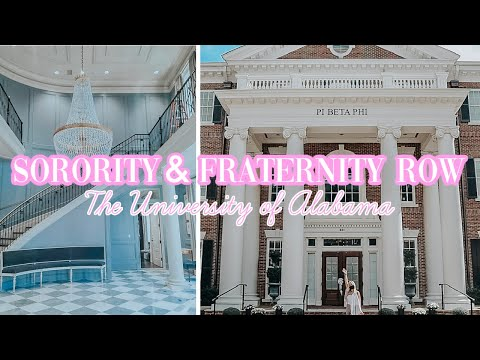 SORORITY AND FRATERNITY ROW | The University of Alabama Campus Tour | Part 2
