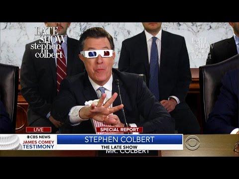 James Comey's Testimony Featuring Stephen Colbert