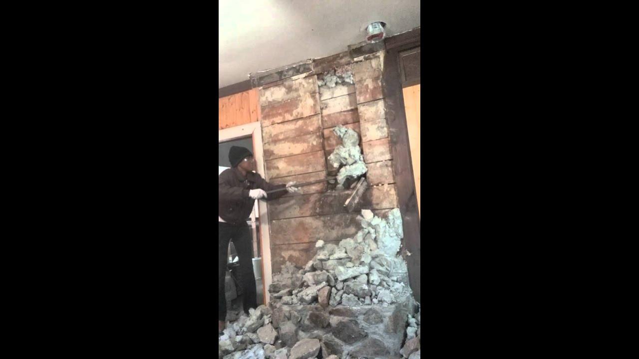 Crumbling Stone Fireplace Surround/Chimney Breast - YouTube