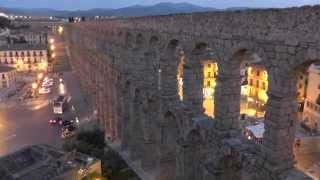 time lapse acueducto Segovia (Segovian Roman aqueduct)