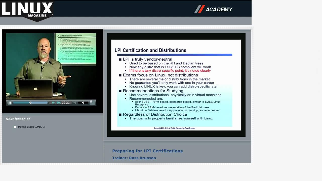 Preparing For Lpi Certification Lpic 1 Online Training Youtube