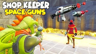 Shop Keeper Loses *NEW* SPACE GUNS! 😱 Scammer Gets Scammed Fortnite Save The World