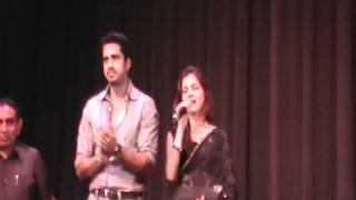 Rubina singing Kanha Aarti at LA Event where they were Chief Guests