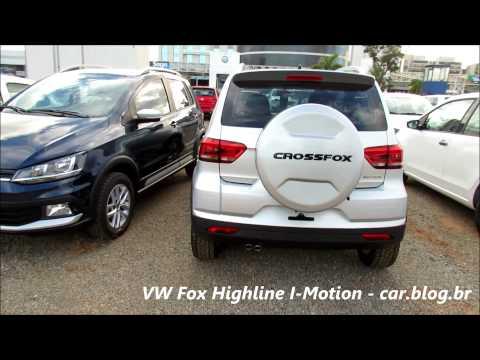 VW Fox Highline e CrossFox Azul Night - detalhes - www.car.blog.br